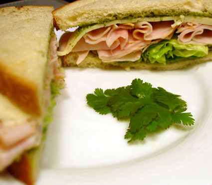 Turkey & Havarti with Cilantro-Pecan Pesto