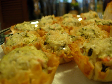 Spinach & Jalapeno Phyllo Cups