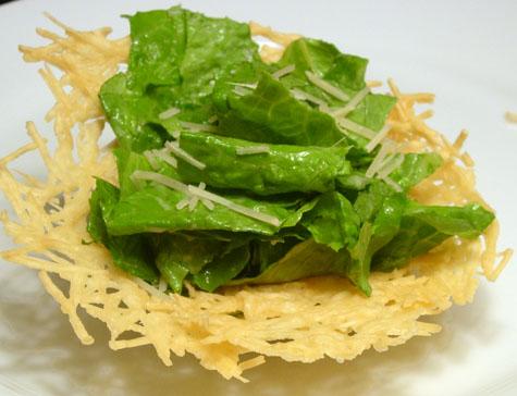 Caesar Salad in Parmesan Frico