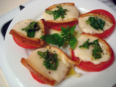 Broiled Caprese Salad