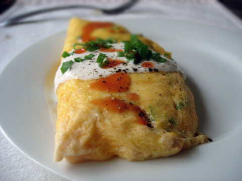 Clean-out-the-veggie-bin Omelettes