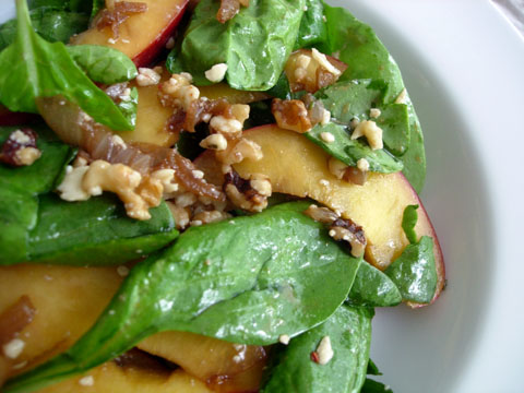 Balsamic Nectarines & Spinach Salad