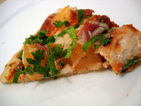 Barbecue Chicken and Pineapple Pizza