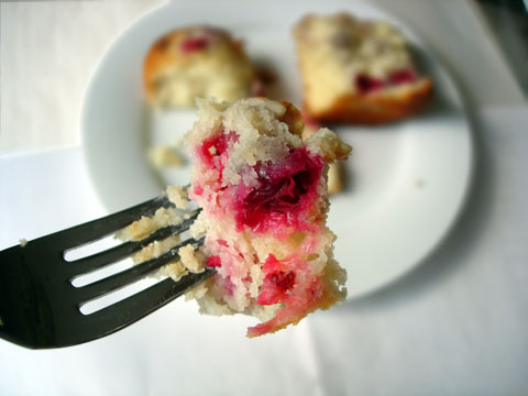Cranberry-Walnut Cream Cheese Muffins