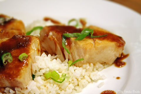 Chilean Sea Bass with Citrus-Soy Reduction
