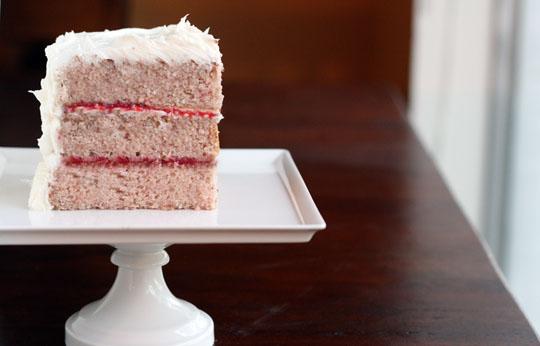 Foodie Bride Strawberry Cake