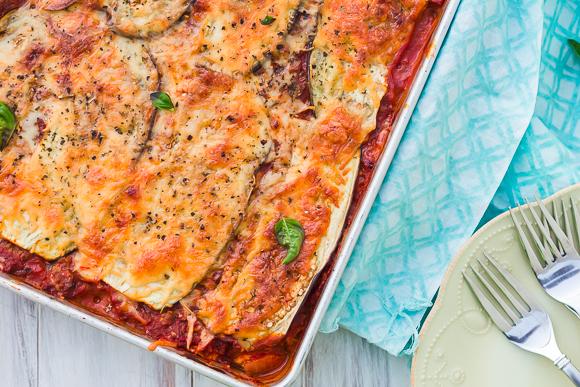 "Beef Lasagna with Eggplant ""Noodles"""